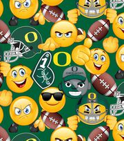 "University of Oregon Ducks Cotton Fabric 43""-Emoji, , hi-res"