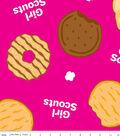 Girl Scout Fleece Fabric 59\u0022-Cookies