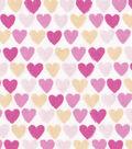 Snuggle Flannel Fabric 42\u0022-Pink Ylw Hearts