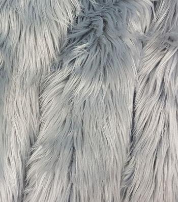 "Fashion Faux Husky Fur Fabric 57""-Grey"