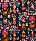 Alexander Henry Cotton Fabric 44\u0022-Calaveras Del Mar Black Brite
