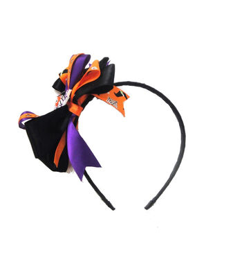Maker's Halloween Spider Headband with Ribbons