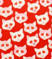 "Alexander Henry Cotton Fabric 44""-Lovestruck Red, , hi-res"