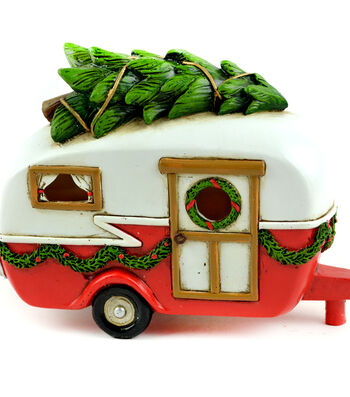 Maker's Holiday Christmas Littles 6.5'' Camper with Tree