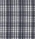 Fashion Cotton Fabric Seersucker Plaid Black White Cotton