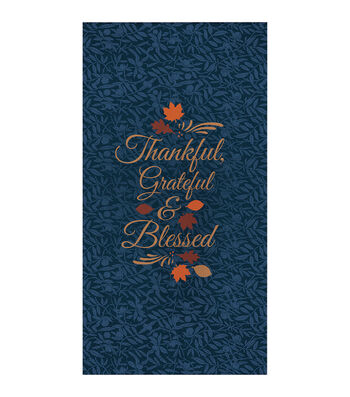 Fall Into Color 16 Pack Paper Napkins-Thankful, Grateful & Blessed
