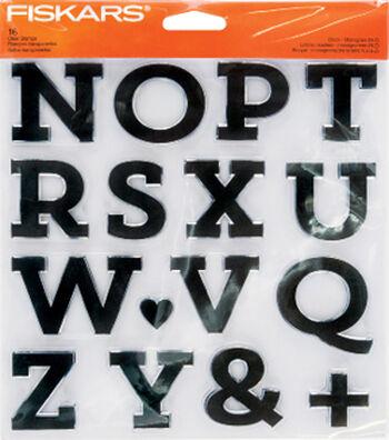 Fiskars® Clear Stamps-Block Monogram N to Z