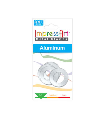 "ImpressArt's Washer, Soft Strike Aluminum, 1"" OD with 1/4"" Ring, 4 Pcs."