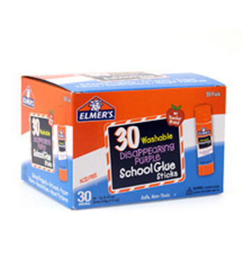 Elmer's® 30 pk Disappearing School Glue Sticks-Purple