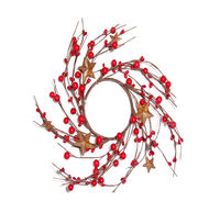 Blooming Holiday Christmas 3.5'' Berry & Star Mini Wreath, , hi-res