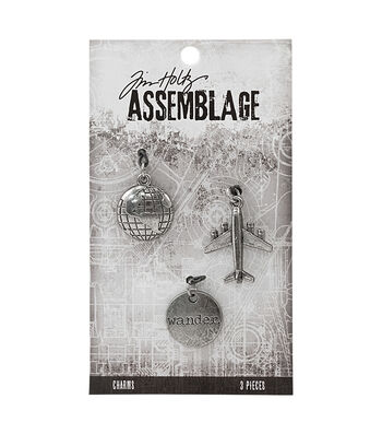 Tim Holtz® Assemblage Pack of 3 Journey Charms