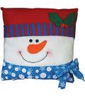 Snowman Pillow Felt Applique Kit-15\u0022X15\u0022