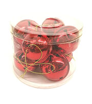Maker's Holiday Christmas 8 pk 50 mm Jingle Bell Ornaments-Red, , hi-res