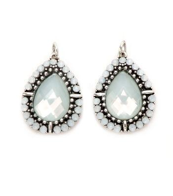 Darice® Light Green Opal Teardrop Charm