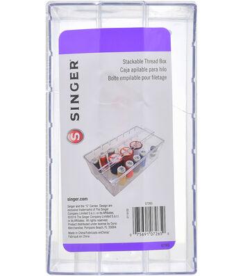 """Clear Plastic Thread Box-2.7""""X4.5""""X8"""""""