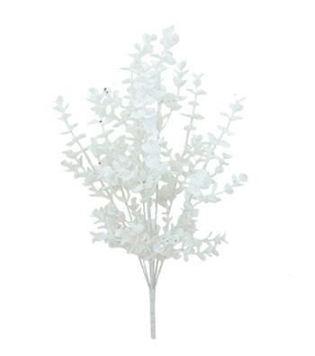 Blooming Holiday Christmas 22'' Glitter Eucalyptus Spray-White