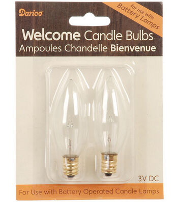 Darice® 2 Pack Welcome Candle Bulbs