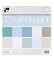 "DCWV 12""x12"" Premium Cardstock Stack The Linen Closet, , hi-res"