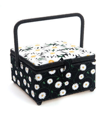 Medium Square Sewing Basket-Daisy