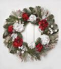 Blooming Holiday 32\u0027\u0027 Hydrangea, Grapevine, Berry & Pinecone Wreath