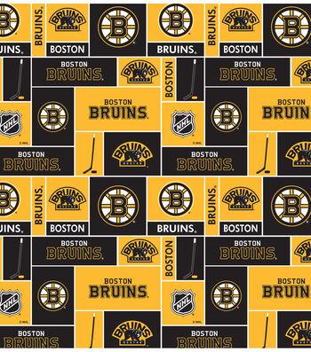 "Boston Bruins Fleece Fabric 60""-Block"