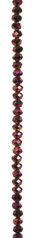 7\u0022 Bead Strands - Purple Crystal Rondelles, 4 x 6mm