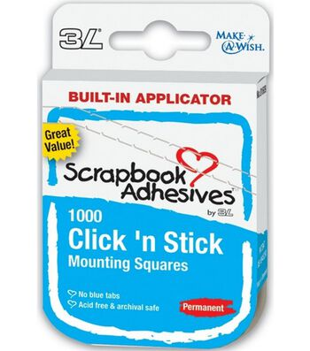 Click 'n Stick Premanent Mounting Squares-White