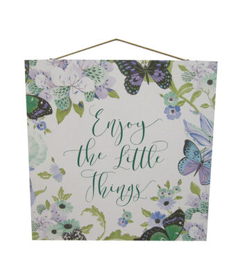 Wild Blooms Wall Decor-Enjoy the Little Things