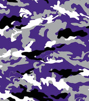 Kansas State University Wildcats Cotton Fabric 43''-Camouflage, , hi-res