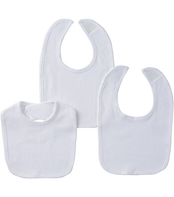 Gerber® 3-Pack Feeder Bibs - White