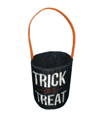 Maker's Halloween Fabric Treat Bag-Trick-Or-Treat