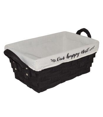 Farm Storage Non Woven Bin with Liner-Black Our Happy Nest