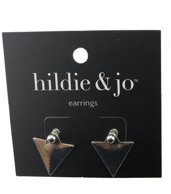 hildie & jo™ Triangle Silver Earrings