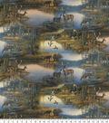 Novelty Cotton Fabric 44\u0027\u0027-Deer At The Lodge