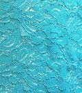 All That Glitters Stretch Lace Fabric 56\u0022-Glitter Turquoise