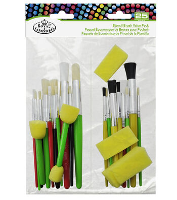 Royal & Langnickel® Stencil Brush Value Pack 25pk
