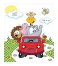 Janlynn Animal Fun Ride Birth Record Counted Cross Stitch Kit