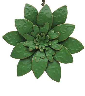 Hello Spring Metal Embossed Flower-Green