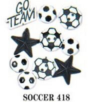 Jesse James Dress It Up Sports Embellishments-Soccer, , hi-res