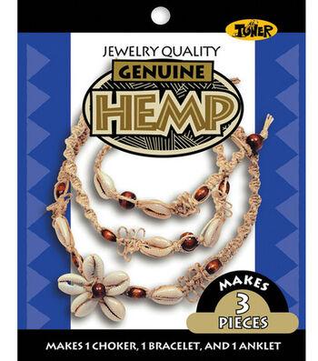 Hemp Jewelry Kits-Small Shell Cowrie