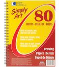Simply Art Drawing Spiral Paper Pad 9\u0022X12\u0022-80 Sheets