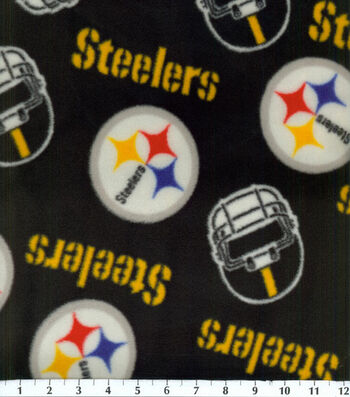 Pittsburgh Steelers Fleece Fabric 58''-Tossed