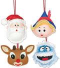 Rudolph The Red-Nosed Reindeer Ornaments Felt Applique Kit-Set Of 4