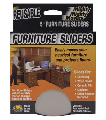"Mighty Movers Reusable Furniture Sliders 5"" Round"