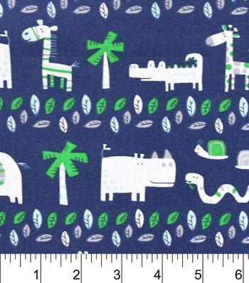 """Nursery Cotton Fabric 43""""-Jungle Friends"""