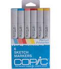 Copic Sketch Marker 6/Pkg-Perfect Primaries