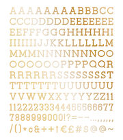 DCWV Home 188 Pack 1'' Letters-Gold, , hi-res