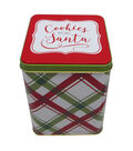 Maker\u0027s Holiday Large Square Canister-Cookies For Santa