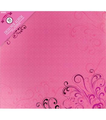 "Colorbok Post Bound Album 12""X12""-Pink Butterflies"