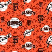 "San Francisco Giants Fleece Fabric 58""-Digital, , hi-res"